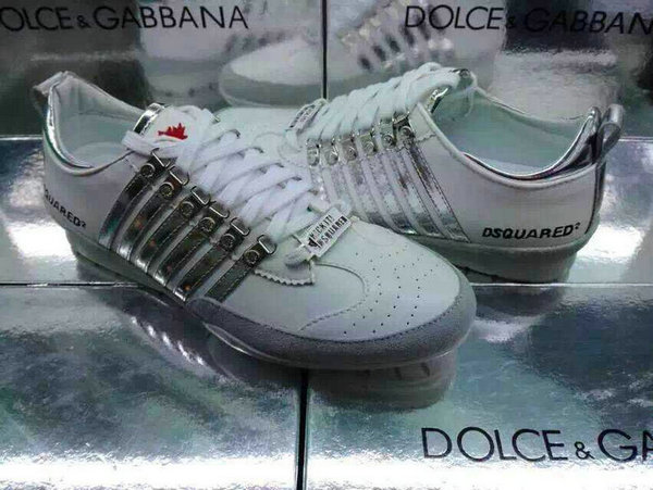 2015 chaussures dsquared2 pas cher italy argent blanc