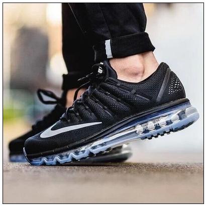 2016 printemps chaussures nike air max 2016 sports femmes gris fonce noir. Black Bedroom Furniture Sets. Home Design Ideas