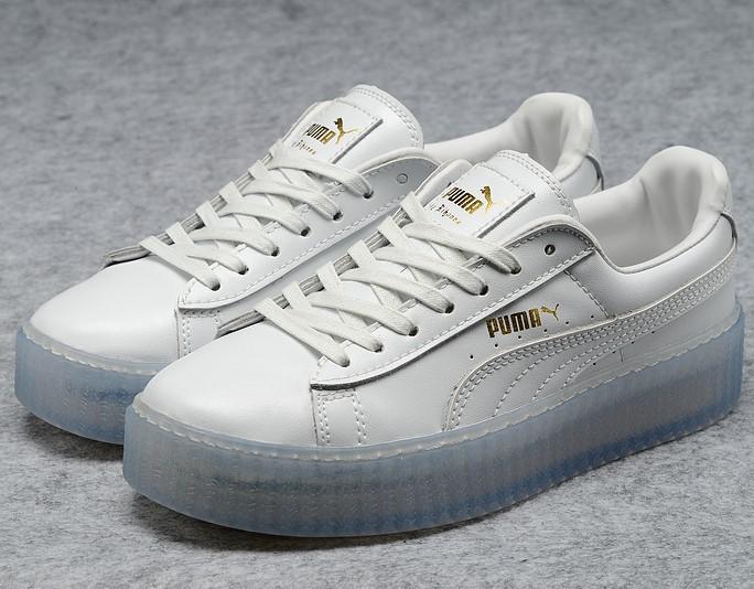 design intemporel f16d2 ac5fd 2016 puma chaussures sign x rihanna new jade blanc ...