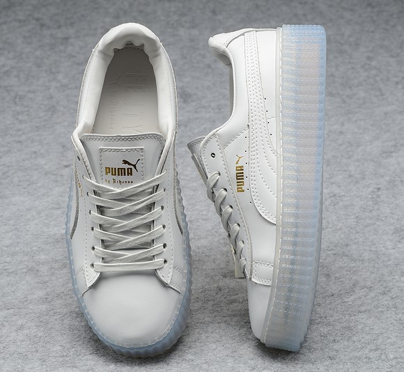 2016 puma chaussures sign x rihanna new jade blanc
