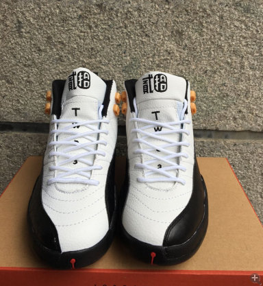 air jordan 12 retro aj 12 taxi white black reflective