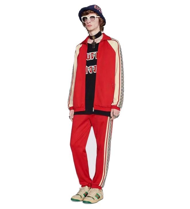 acheter gucci brand gg tracksuit shoulder gg red