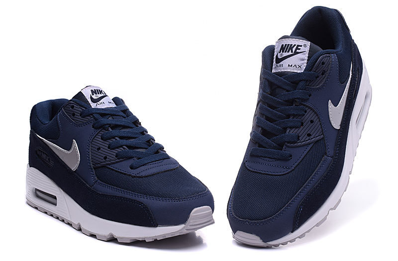 air max 90 2015 ice hiver hyperfuse argent bleu fonce