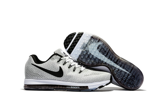 air zoom nike all out flyknit classic low flywire gris blanc