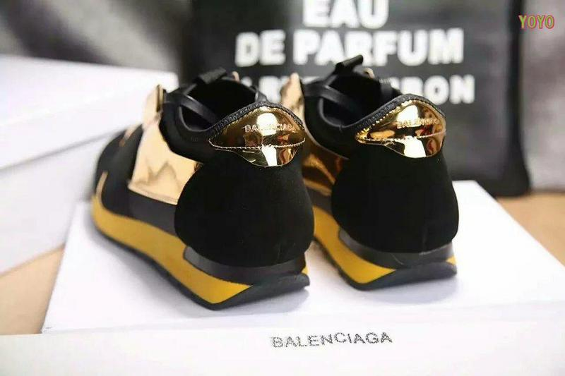 balenciaga unisexe race chaussures gold side
