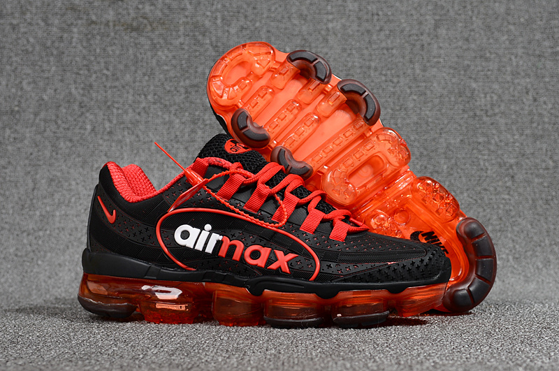 baskets nike air vapormax 95 flywire red balck