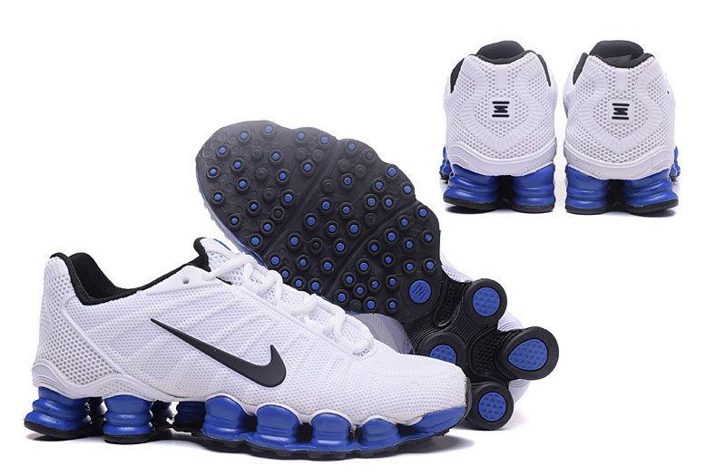 promo code 15178 42715 baskets nike shox rivalry et tlx white blue