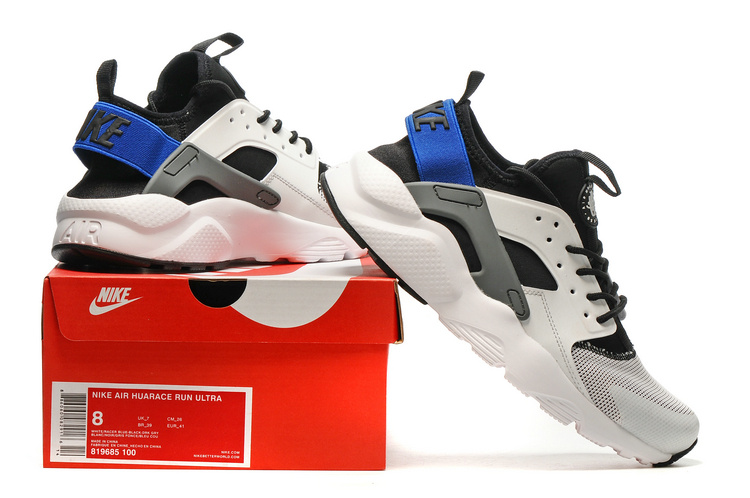 baskets basses nike sports air huarache run ultra blue back