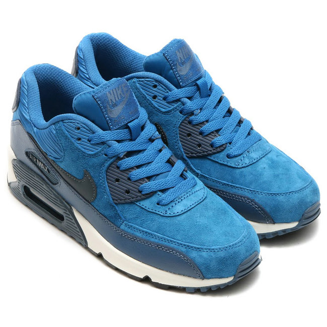 baskets basses nike air max 90 mesh armee flotte bleu