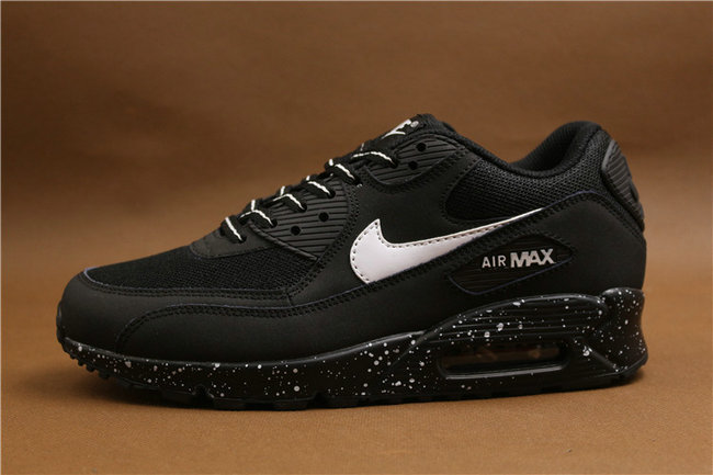 site réputé bc497 cd6d7 baskets basses nike air max 90 mesh noir blanc peint:Nike ...