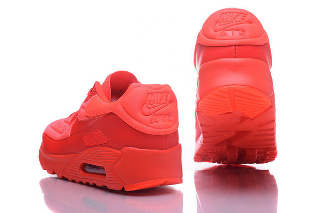 baskets basses nike air max 90 mesh rouge vif