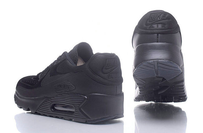 baskets basses nike air max 90 mesh tout noir