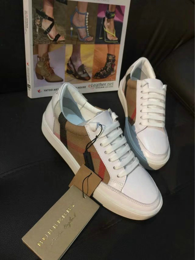 burberry femmes chaussures salmond check italy top leather lattices white