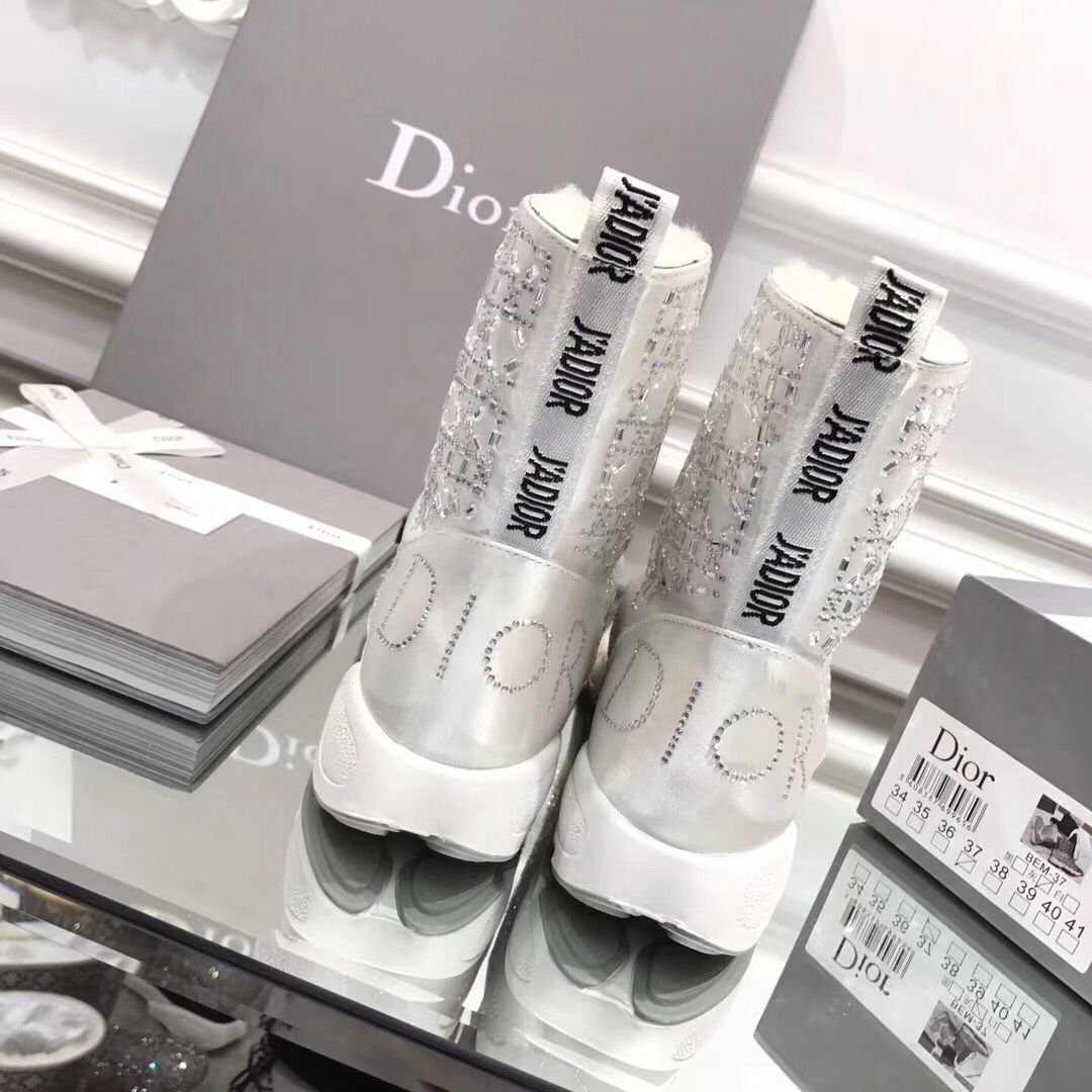christian dior boots luxury fashion australian wool white