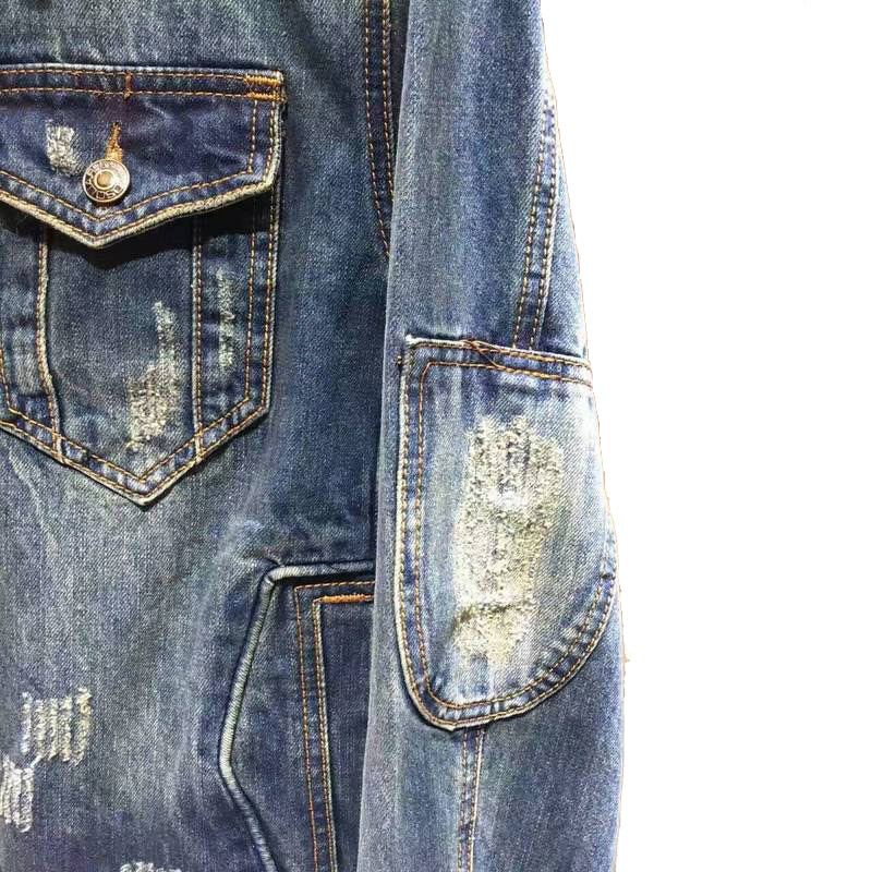dsquared denim jacket four seasons classic retro blue