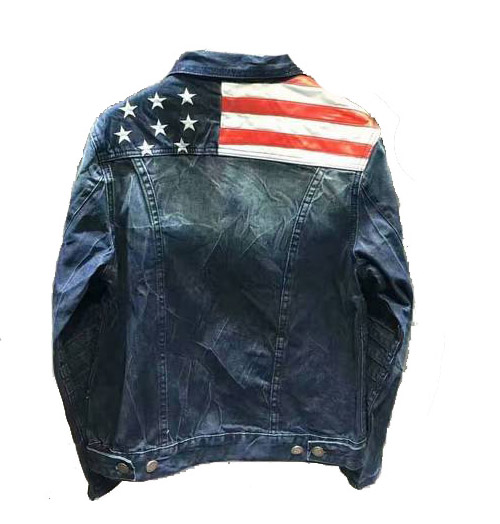 dsquared denim jacket four seasons usa flag