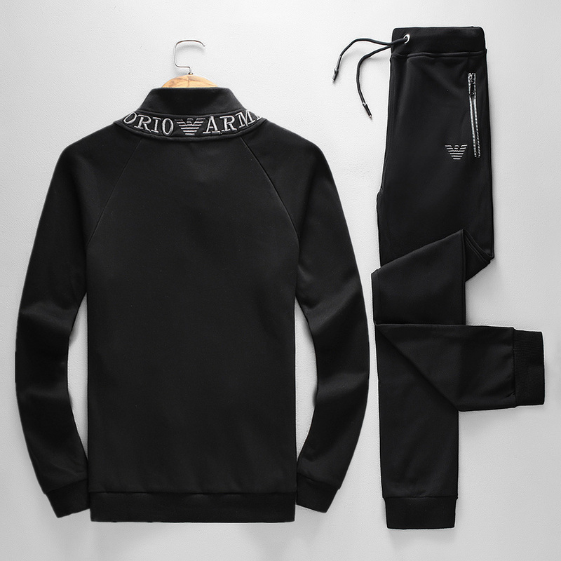 ea7 emporio armani survetement jogging 2018 thick neck black