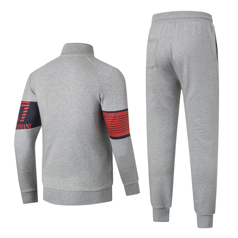 ea7 tracksuit survetement ensemble fashion arm printing gray