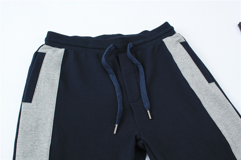 ea7 tracksuit survetement ensemble fashion col-v blue