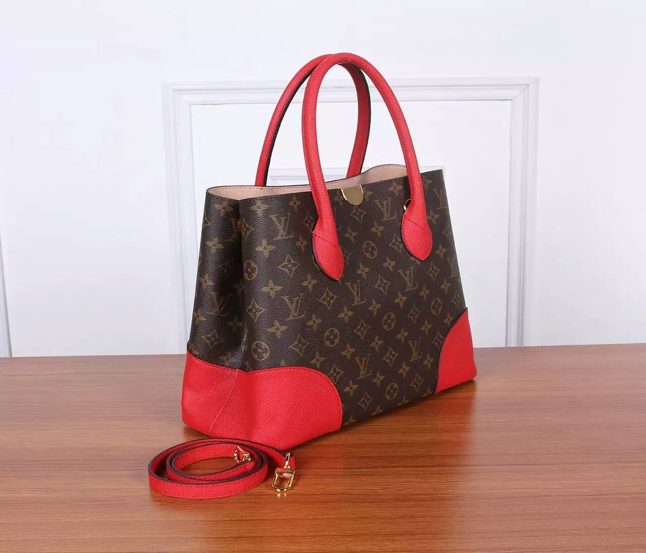 fashion sac louis vuitton solde rouge m41595 w35h26d15