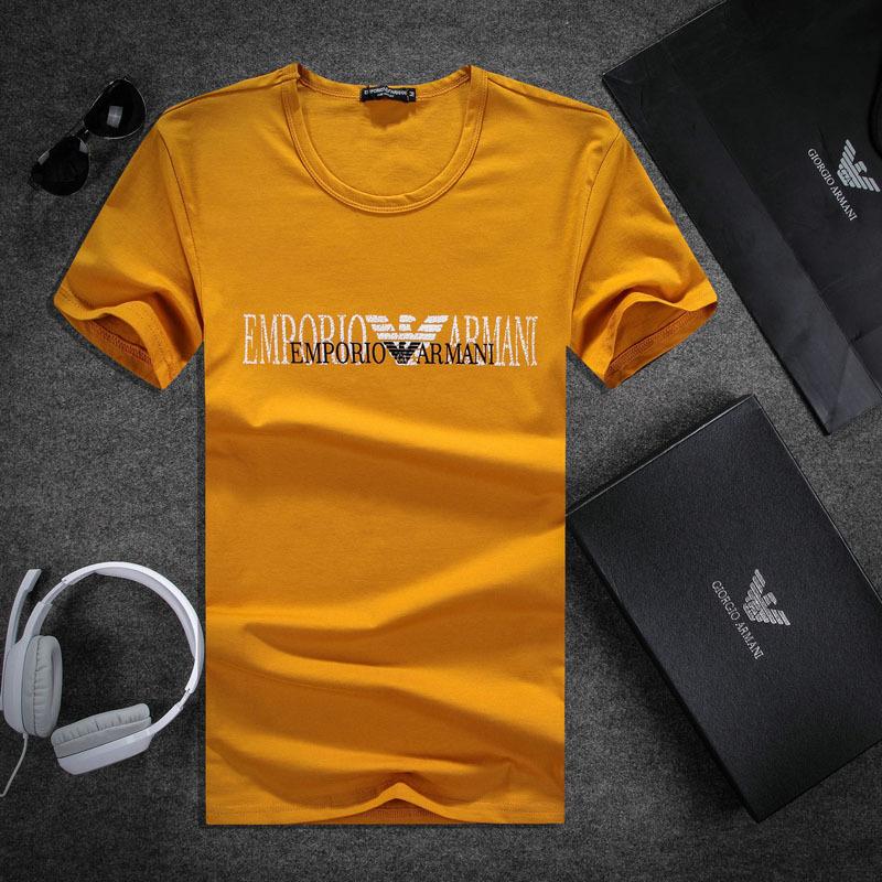 Fitness training emporio ea7 tee shirt double orange t for La fitness t shirt