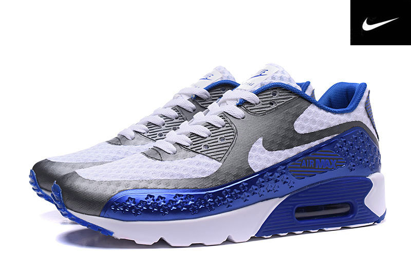 independence day air max 90 fluo pas chere gray blue