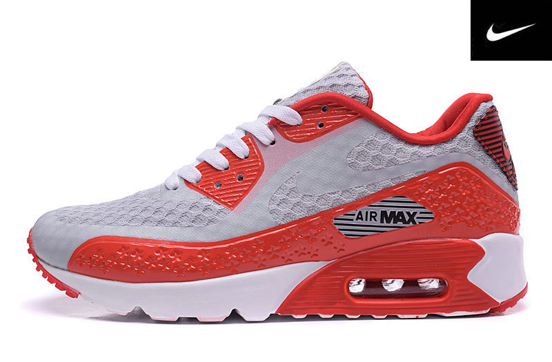 independence day air max 90 rose et vert red gray