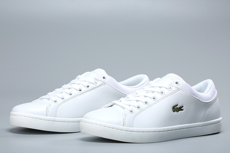 lacoste europa sneaker all white