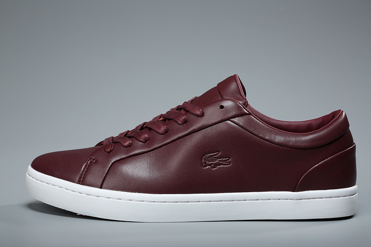 lacoste europa sneaker center logo red