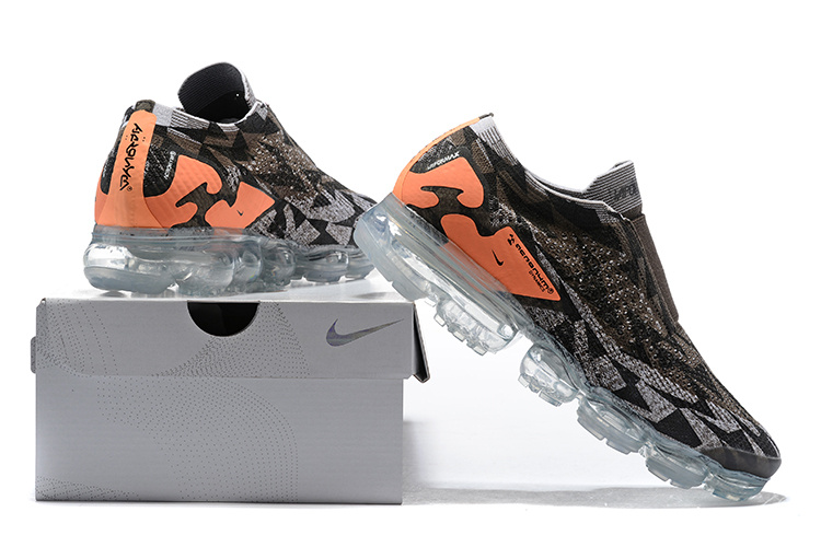 nike air vapormax2 hommes femmes basketball chaussures coffie orange