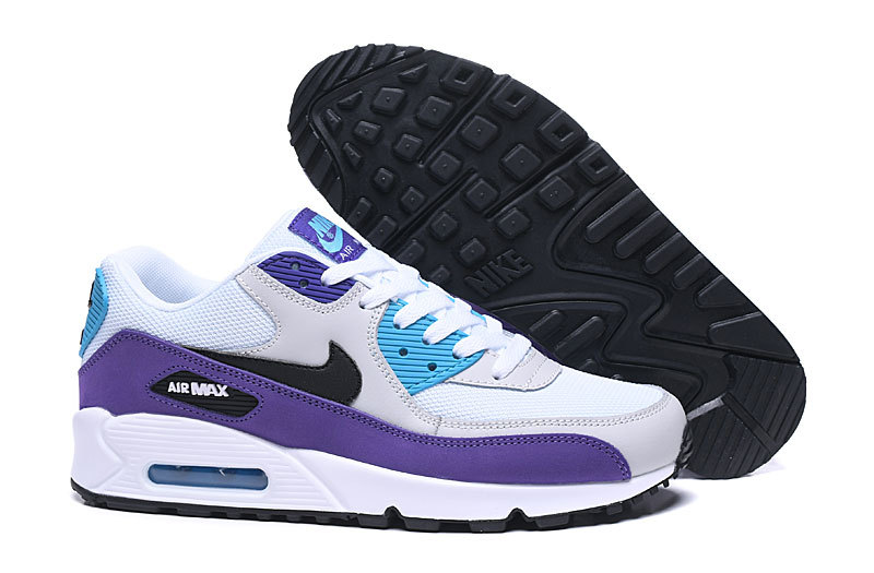 nike air max 90 essential man women white purple