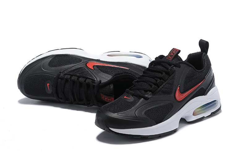 nike air max2 light mesh 2019 leather sneakers black red