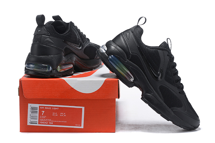 nike air max2 light mesh 2019 leather sneakers cool black