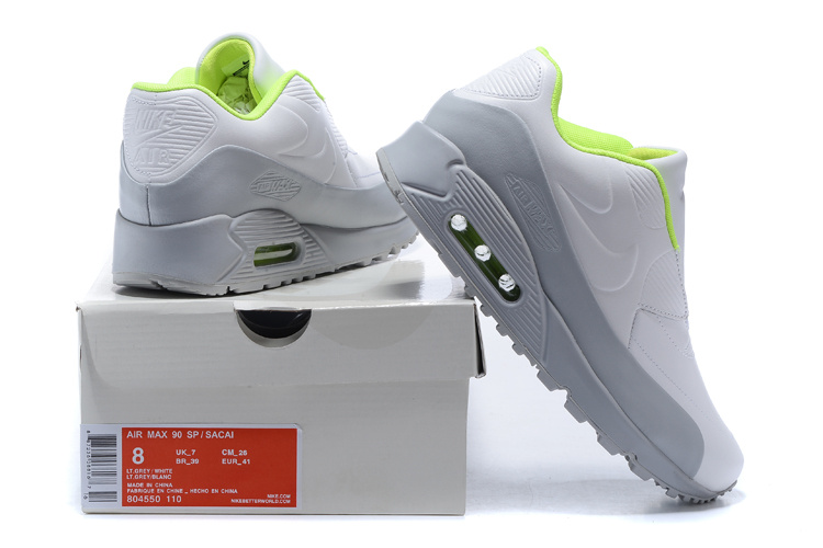 nike air max leather 90 sacai new style inside verte