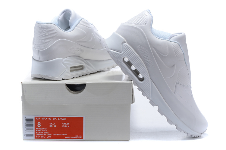 nike air max leather 90 sacai new style white