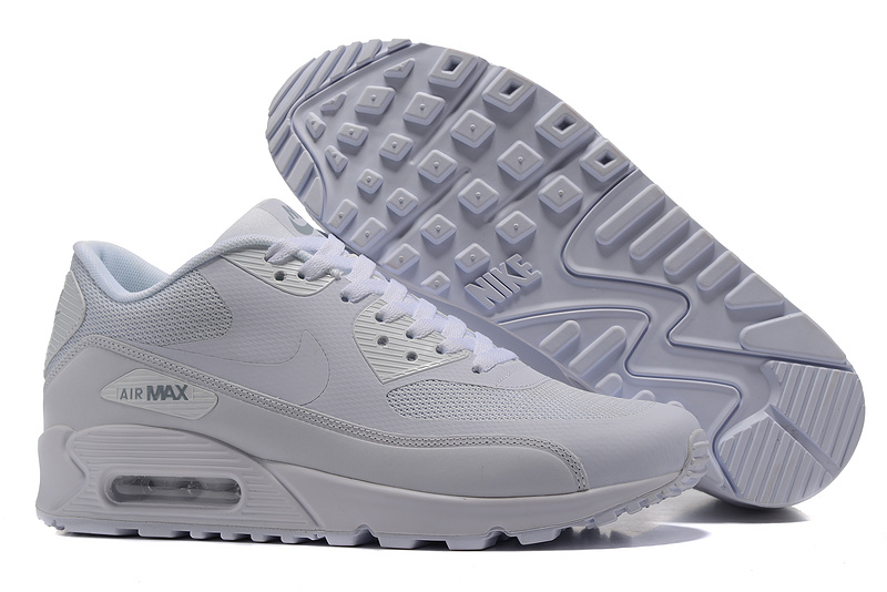 nike hommes air max 90 ultra lux casual chaussures essential white