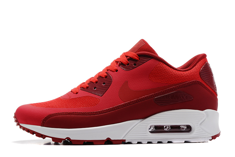 nike hommes air max 90 ultra lux casual chaussures cuir red