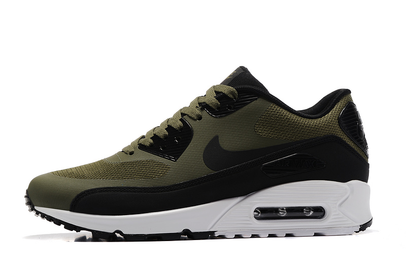 nike man air max 90 ultra lux casual shoes green army