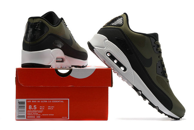 nike chaussures air max 90 ultra essential og infrared army vert