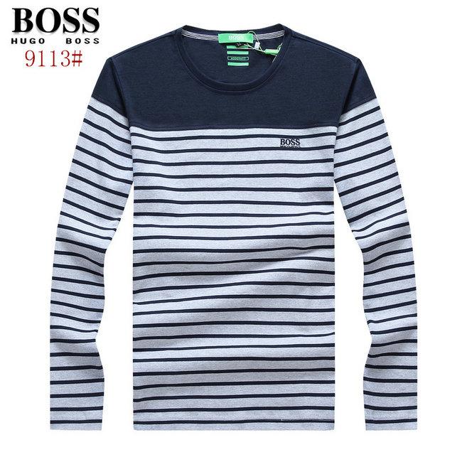 56a11691d38a1 polo hugo boss Manches longue t-shirt 2016 col rond cutton t-shirts ...