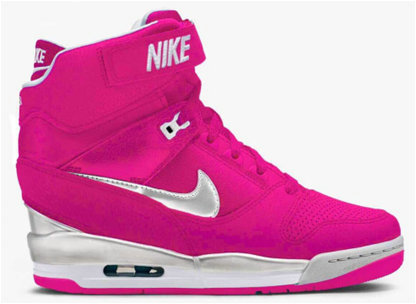 sportswear nike montantes air revolution sky baskets rose logo white