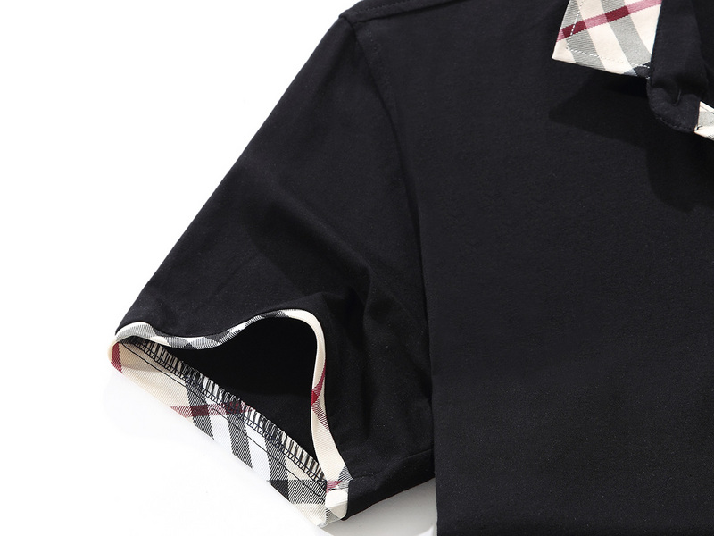 t-shirt burberry manches courtes col polo magasin france b6818 noir