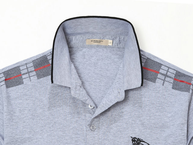 t-shirt burberry manches courtes col polo magasin france top grid gray