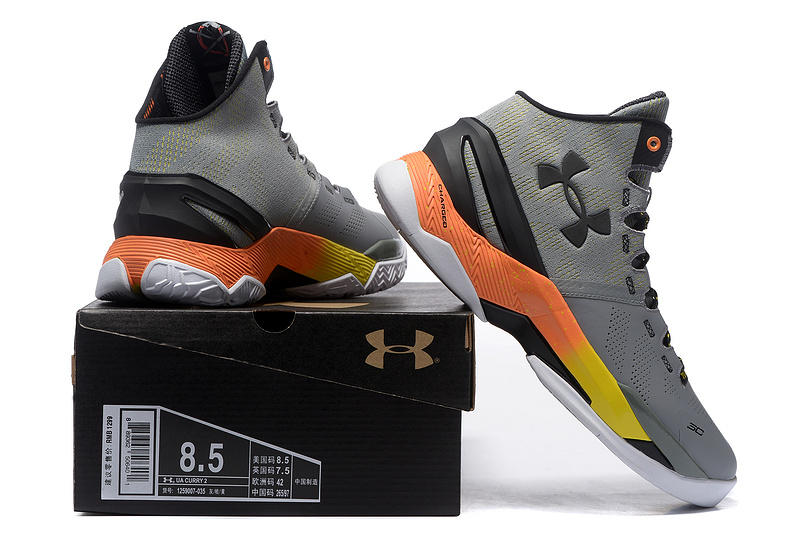 ua micro torch chaussures curry2 new dance orange