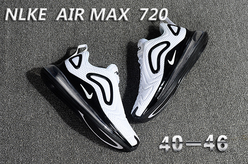unisex nike air max 720 running chaussures i white black