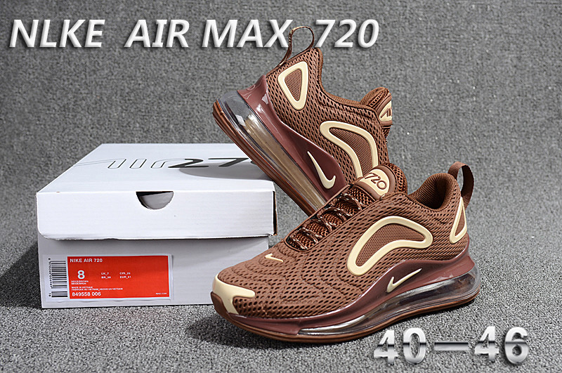 unisex nike air max 720 running shoes brown