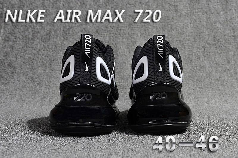 unisex nike air max 720 running chaussures cool black