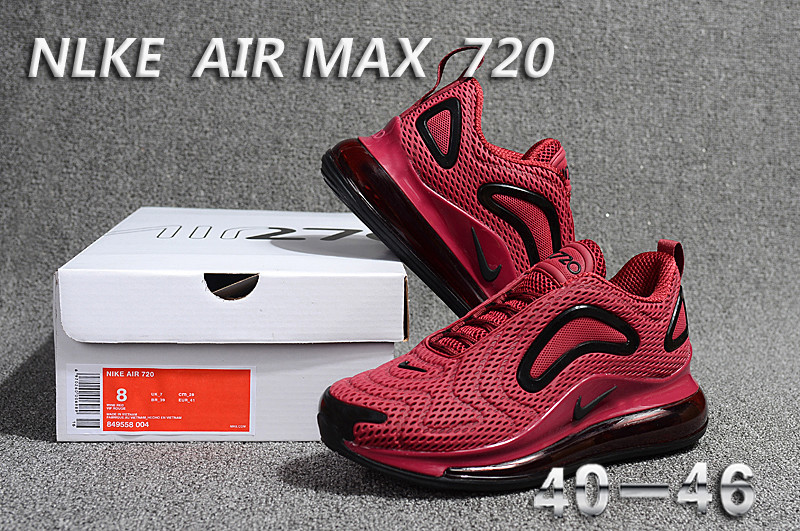 unisex nike air max 720 running chaussures red win