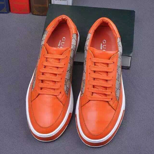 8e67ba40712 ... acheter chaussures gucci en soldes pattern leather b orange ...