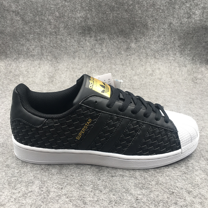 adidas originals baskets superstar classics leather face knitting black